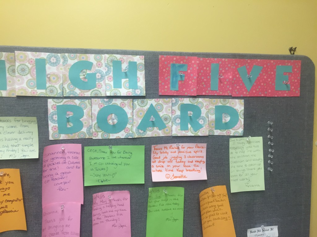 hgh five board
