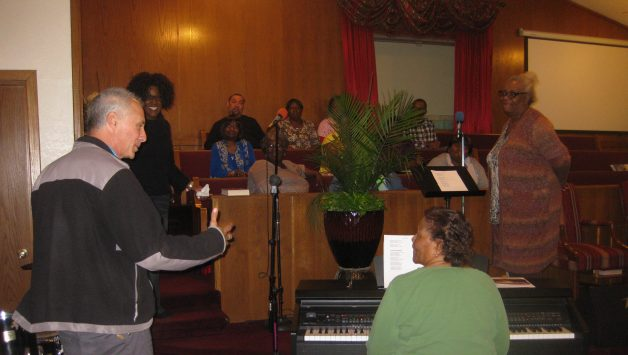 Singing with the Gospel Choir