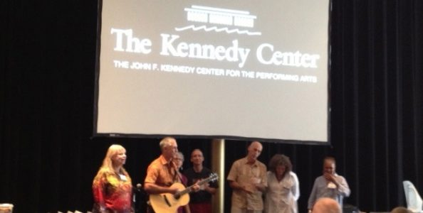 Kennedy Center Retreat, group singing, and a song